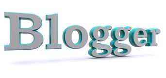 Blogger. 3-D rendering of the word Blogger royalty free stock images