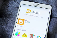 Blogger-APP Lizenzfreies Stockfoto