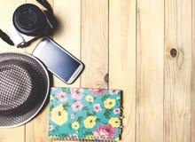 Blogger del viaje de las vacaciones de las vacaciones de verano Foto de archivo