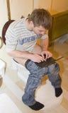 Blogger en tocador Fotos de archivo