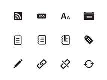 Blogger icons on white background. Vector illustration stock illustration