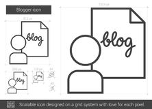 Blogger line icon. Stock Photography
