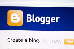 Blogger website Stock Image