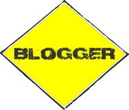 Blogger yellow sign Royalty Free Stock Images