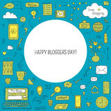 Bloggers Day card Royalty Free Stock Image