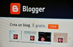 Bloggerweb site Stockfotos