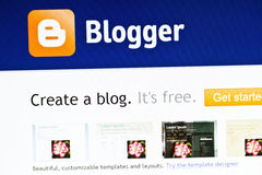 Bloggerweb site Lizenzfreie Stockfotografie