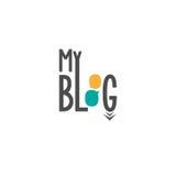 Bloggframdel för affär Arkivbild