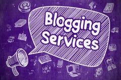 Blogging服务-企业概念 库存图片