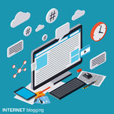 blogging的互联网,博克管理,网出版物传染媒介概念 皇族释放例证