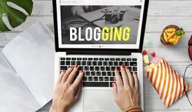 Blogging веденная вирусная концепция камеры Стоковые Фотографии RF