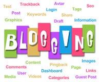 Blogging красочный код нашивок Стоковое Изображение RF