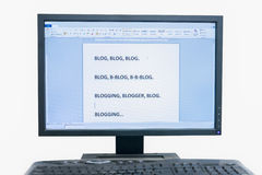 Blogging Images libres de droits