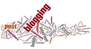 Blogging Photo libre de droits