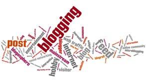 Blogging 免版税库存照片