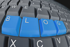 Blogging Stockfoto