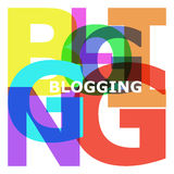 Blogging - abstract color letters Royalty Free Stock Photos