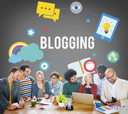 Blogging Blog Internet Media Networking Social Concept Royalty Free Stock Image