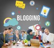 Blogging Blog-Internet-Medien-Vernetzungs-sozial-Konzept Lizenzfreies Stockbild