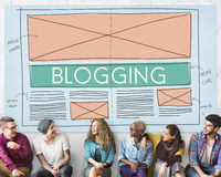 Blogging Blog Social Media Networking Internet Connecting Concep Royalty Free Stock Image