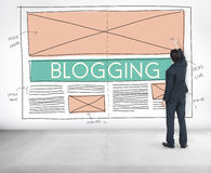 Blogging Blog Social Media Networking Internet Connecting Concep Royalty Free Stock Images