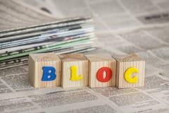 Blogging. Blog website network craft community media stock photos