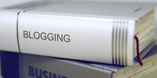Blogging Boektitel op de Stekel 3d Stock Afbeeldingen