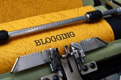 Blogging concept royalty free stock photography