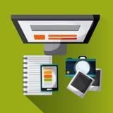 Blogging design. Media icon. Colorful illustration , vector Royalty Free Stock Photos