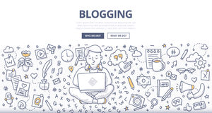 Blogging Doodle Concept Royalty Free Stock Photo