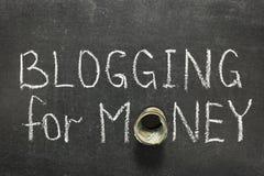 Blogging für Geld Stockbilder