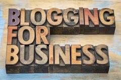 Blogging für Geschäftsfahne Stockbilder