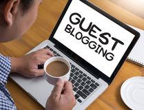 BLOGGING GAST Stockbild