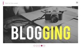 Blogging Gegaan Viraal Cameraconcept Royalty-vrije Stock Foto's