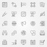 Blogging icons set Royalty Free Stock Image