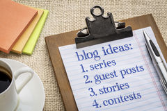 Blogging ideas list Royalty Free Stock Images