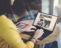 Blogging Ideen-zufriedenes Verbindungsvisions-Netz-Konzept Lizenzfreies Stockfoto