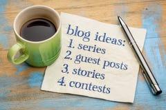 Blogging Ideenliste Stockbilder