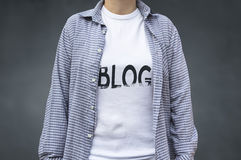 Blogging Konzept des Blogs Stockbild