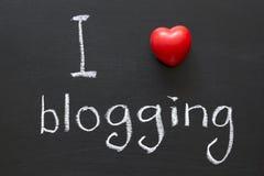 Blogging Liebe Lizenzfreie Stockfotografie