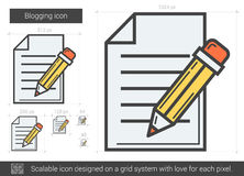Blogging line icon. Royalty Free Stock Photo