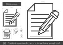 Blogging line icon. Royalty Free Stock Photography