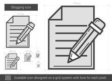 Blogging line icon. Royalty Free Stock Photos