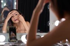 Blogging Make-upliebhaber Stockfoto