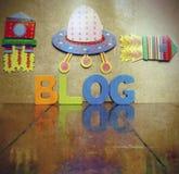 Blogging mit Raumschiffen Stockfotografie