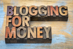 Blogging for money banner royalty free stock photography