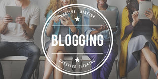 Blogging Post Connect Social Media Website Concept Stock Photography