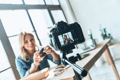 Blogging routine. Stock Photography