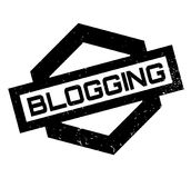 Blogging rubber stamp. Grunge design with dust scratches. Effects can be easily removed for a clean, crisp look. Color is easily changed Stock Photography