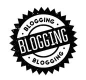 Blogging rubber stamp. Grunge design with dust scratches. Effects can be easily removed for a clean, crisp look. Color is easily changed Royalty Free Stock Photography
